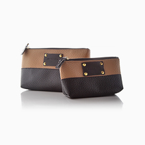 Printed Laminated Canvas Pouch (Set of 2) by Coco & Tres