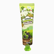 Sparkling green grape hand cream