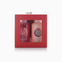 Strawberry Shower Gel, Body Puree, and Bath Lily Gift Cube Duo by The Body Shop