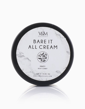 Bare It All Cream Minty (250g) by V&M Naturals