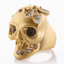 Skull & Bee Ring by Luxe Studio