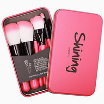 Shining Pink Box Brush Set by Coringco