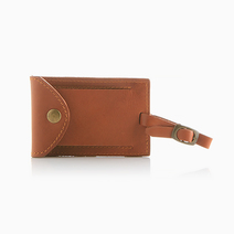 Brown Luggage Tag by School of Satchel