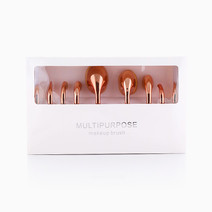 Oval Rose Gold Brush Set by Suesh