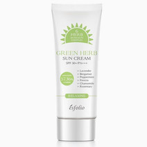 Green herb sun cream