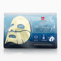 Leaders gold foil mask   aqua shield bg