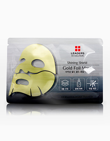Shining Shield Gold Foil Mask by Leaders Ex Solution