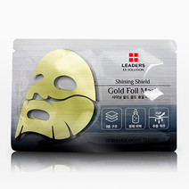 Leaders gold foil mask  shining shield bg