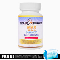 Beauoxi white max 12 in 1 enhanced glutathione tablets w soap