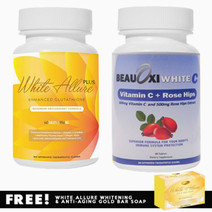 White allure glutathione and beauoxi white c vitamin c combo