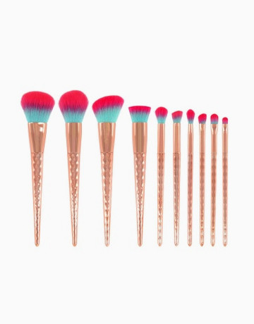 10pc Rose Gold Unicorn Brush by Brush Work