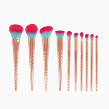10 pieces rose gold unicorn makeup brush  ombre bristles