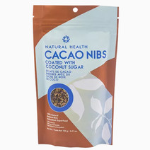 Cacao nibs coated