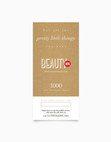 BeautyMNL Gift Card (P1,000) by BeautyMNL