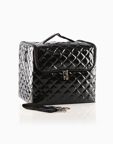 Black Quilted Vanity Case by Suesh