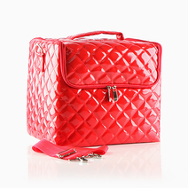 Red Quilted Vanity Case by Suesh