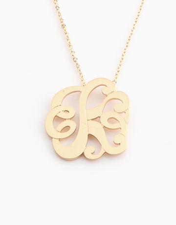 Elegant Monogram Necklace by Vain Accessories