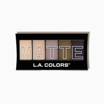 La colors 5 color matte eyeshadow palette natural linen