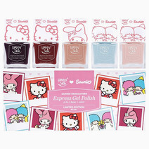 Happy skin (3 sanrio express gel polish 2 in 1 base   color limited edition set of 5