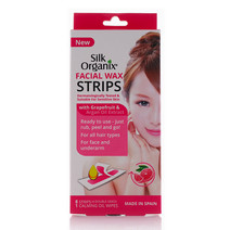 Facial Wax Strips by Silk Organix in Grapefruit &  Argan Oil Extract (Sold Out - Select to Waitlist)