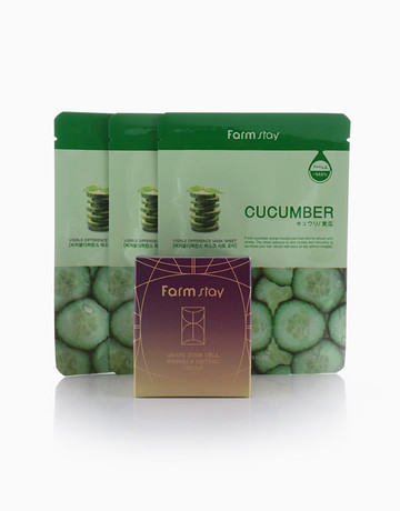 Grape Stem Cell Cream+Masks by Farmstay