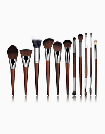 11-Piece Rosewood Brush Set by Brush Works
