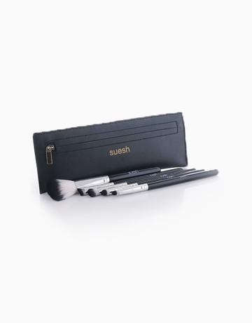 5-Piece Metallic Brush Set by Suesh