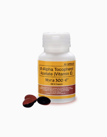 Vitamin E 300 IU (30 capsules) by Myra Products | BeautyMNL