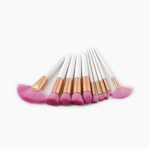 Brushwork 10 pieces diva makeup brush set   pink bristles