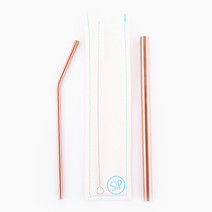 Rose Gold Steel Straw Duo Set by Sip PH