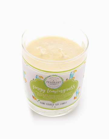 Zingy Lemongrass (7oz) by Fragrant Home Candles