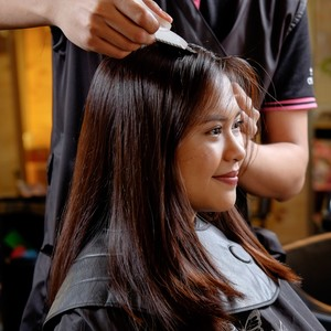Haircut + Rampaged Keratin Protein Treatment by Creations by Lourd Ramos