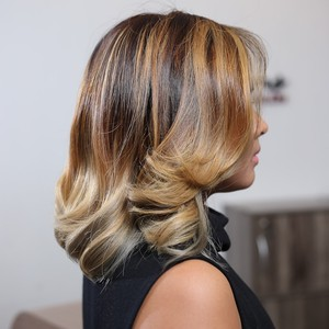 Balayage with Moroccan Argan Treatment by Creations by Lourd Ramos