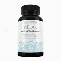 Herbs of the earth relax  stress support formula  90 all natural tablets