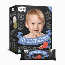 Nosh organic vegan baby munchables blueberry pomegranate