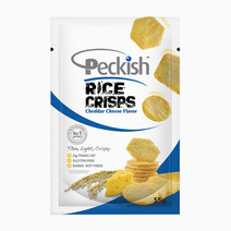 Cheddar Cheese Rice Crisps  by Peckish Rice Crisps