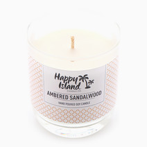 Ambered Sandalwood Soy Candle (8oz/240ml) by Happy Island Candle Co