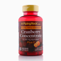 Ultra Triple Strength Cranberry: 15,000mg Plus Vitamin C by Piping Rock