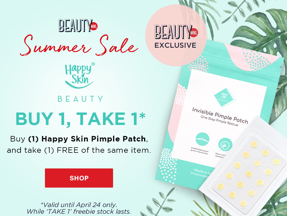 Promo box summer sale happy skin exclusive pimple patch launch