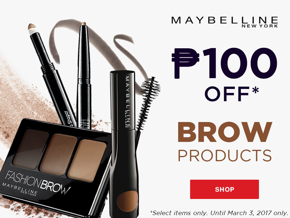 Promo maybelline brows