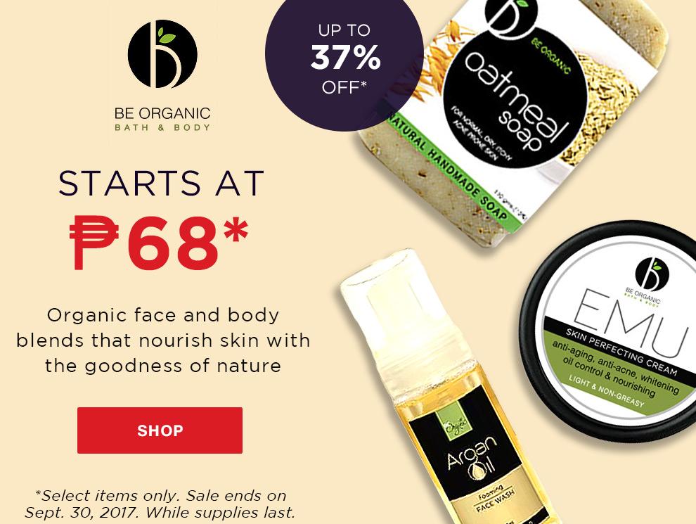 Promo be organic sale