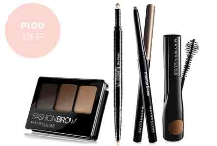 Maybelline brows p100 off